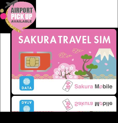 Japan Prepaid Tourist SIM card - Sakura Mobile